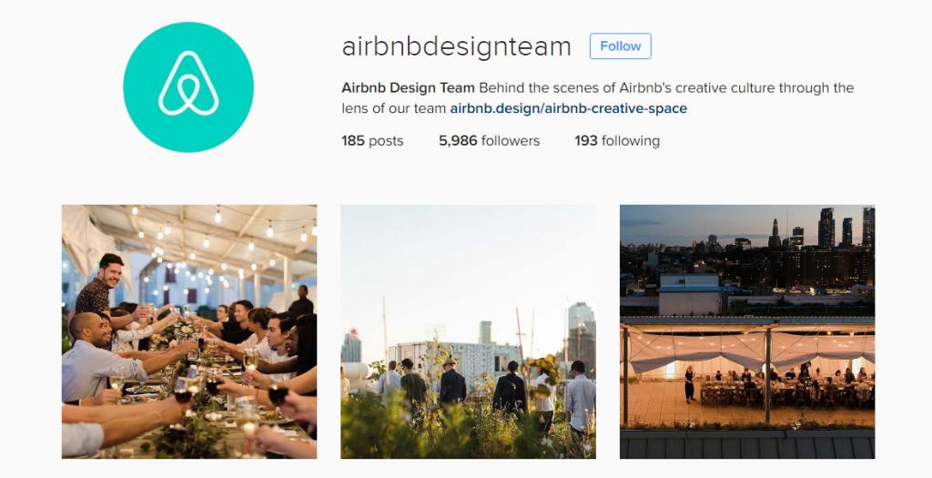 airbnb instagram