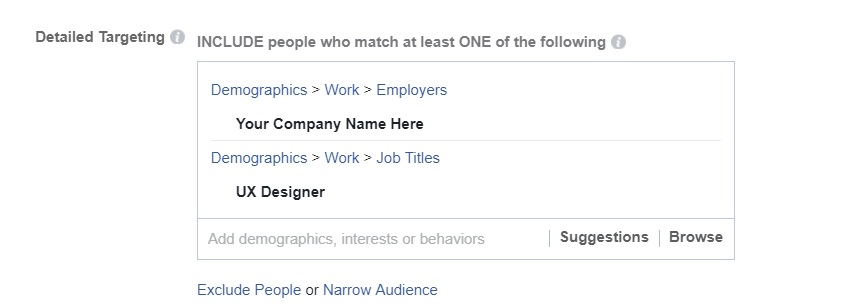 Facebook hiring campaign recruitment