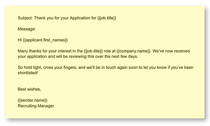 Recruiting Emails 1 Thanks for Application v2